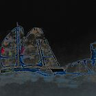 Sailing at night, Sancti Petri, Spain 2012 by Timothy Adams