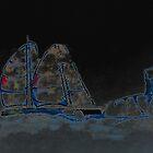 Sailing at night, Sancti Petri, Spain 2012 by Timothy Adams