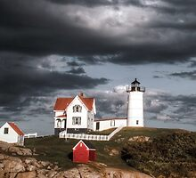 Nubble Lighthouse, Cape Neddick, Maine by Barbara Ingersoll