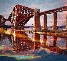 Forth Rail Bridge  by Ian Jeffrey