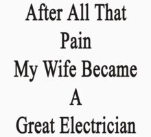 After All That Pain My Wife Became A Great Electrician by supernova23