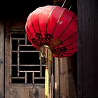 Red Paper Lantern, Zhujiaojiao Water Village by Matthew Walters