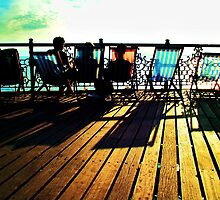 Deckchairs at dusk by nemonie