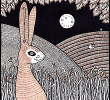 Midnight Doe Hare by Anita Inverarity