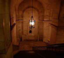 Staircase at the New York city library by Magdalena Warmuz-Dent