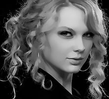 Taylor Swift Digital Art Portrait by David Alexander Elder