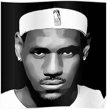 LeBron James Digital Art Portrait by David Alexander Elder