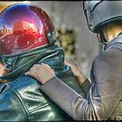 Twosome on a motorbike by kilmann