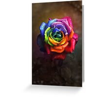 Rainbow Dream Rose Greeting Card