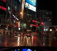 Yonge & Dundas In The Evening Rain by Gary Chapple