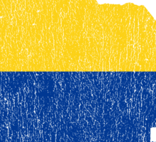 Colombia Paint Drip Sticker