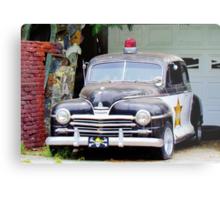 Vintage Police Car Metal Print