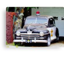 Vintage Police Car Canvas Print