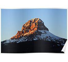 Golden Mountaintops Poster