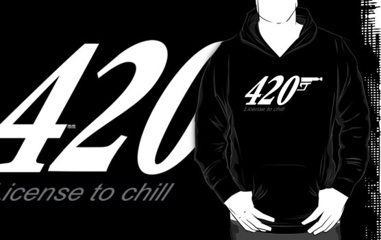 420 licence to chill (white logo) by mouseman