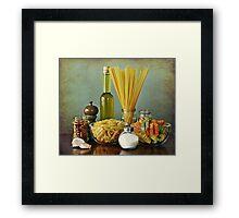 Aglio, olio peperoncino (garlic, oil, chili) noodles Framed Print