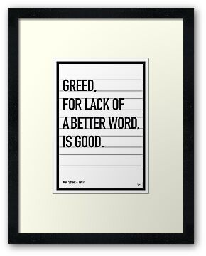 My Wall Street Movie Quote poster by Chungkong