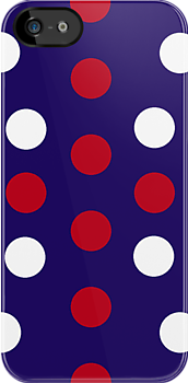 Abstract Spots Union Jack iPhone Case by giraffoarts