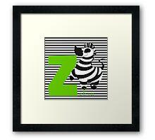z for zebra Framed Print
