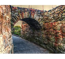 Old Stone Arch on the Cliff Walk, Newport, Rhode Island Photographic Print