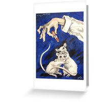 Lipstick and Lab Mice Greeting Card