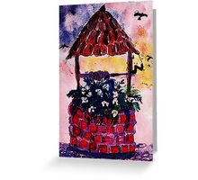 Daughters inherited wishing well, watercolor Greeting Card