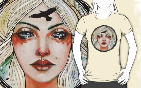 Goddess Freyja tee by MoonSpiral