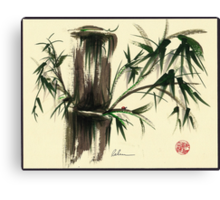 """Gentle Soul"" - Little ladybug in her bamboo haven Canvas Print"