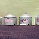Tea Coffee Sugar Flour by StevenMichael