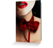 Dark Red Love-Knot Greeting Card