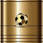 Golden Football Pitch iPod /  iPhone 5 / iPhone 4 Case  / Samsung Galaxy Cases  by CroDesign