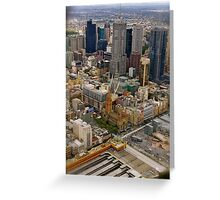 Melbourne The City of All Greeting Card