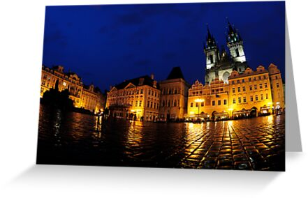 Old Town at Twilight, Prague by avresa