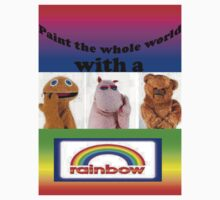 Paint the whole world with a rainbow! Clothes and stickers by LittleMermaid87