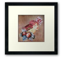 Peaches Remind Me of You Framed Print
