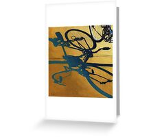 Market Day - bicycle art transportation oil painting Greeting Card
