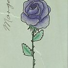 Purple Rose by Wiemaynia