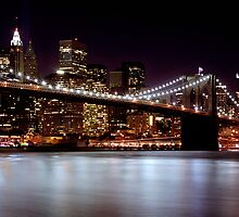 Brooklyn Bridge at Night (New York) by brooklynprints