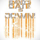 """The Enemy's Gate Is Down"" Poster:White by Malc Foy"