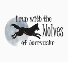 Running with the Wolves (with moon) Kids Clothes