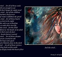 Poetry in Art - And She Cried... by Robin Monroe