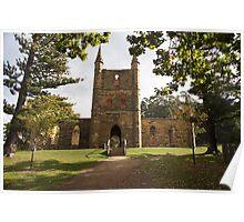 Beautiful Tasmania - the Church at Port Arthur Poster