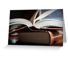 Open Book  -A Moment In Time- Greeting Card