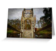 A little Bridge across a River Greeting Card