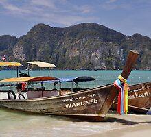 Long Tail Boats, Phi Phi Island by avresa