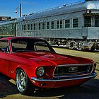 """1968 Mustang """"At the Station"""" by TeeMack"""