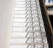 Shadowy Stairs by phil decocco