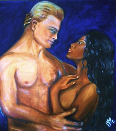 Interracial Lovers III by Yesi Casanova