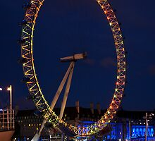 The London Eye and River Thames by night by Magdalena Warmuz-Dent