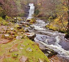 Caerfanell Falls by Paula J James